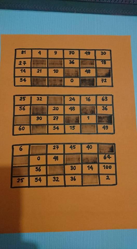 Tombala Oyunu Kartları