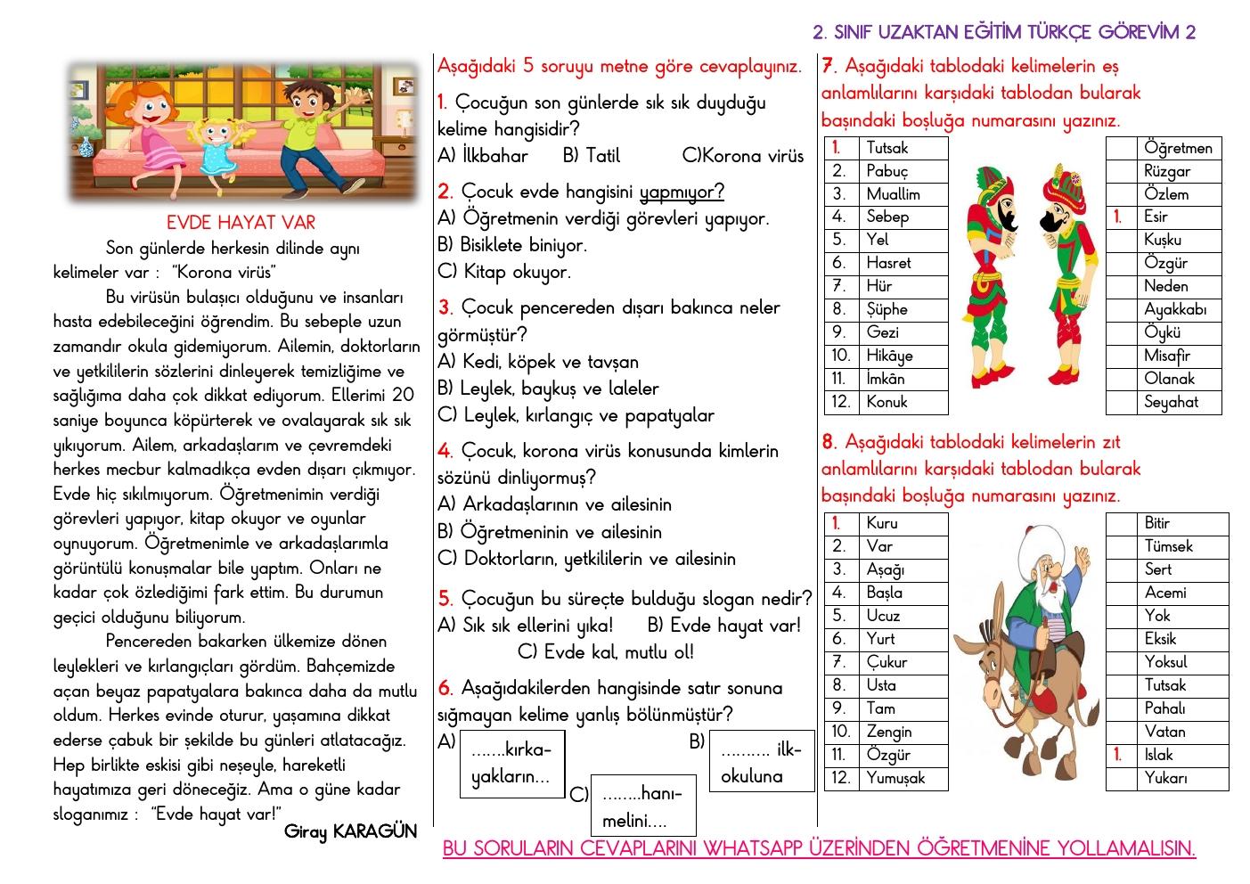 Uzaktan Eğitim Türkçe Görevi 2