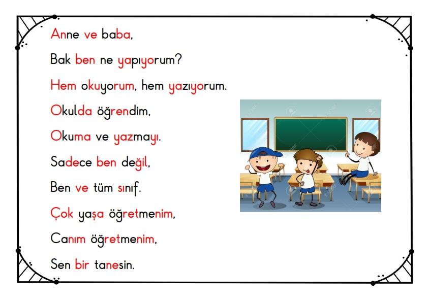 1. Sınıf Kısa Okuma Metinleri - 9