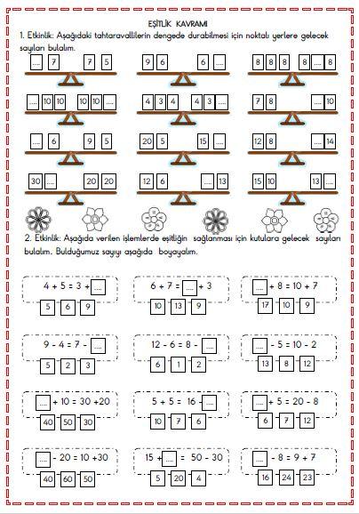 Matematik - Eşitlik Kavramı 2