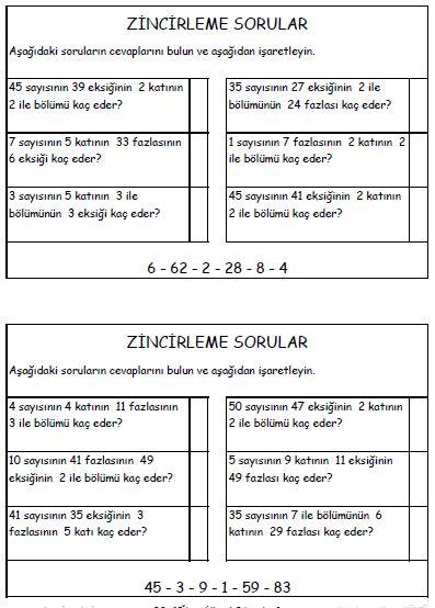 3. Sınıf Çalışmaları 6