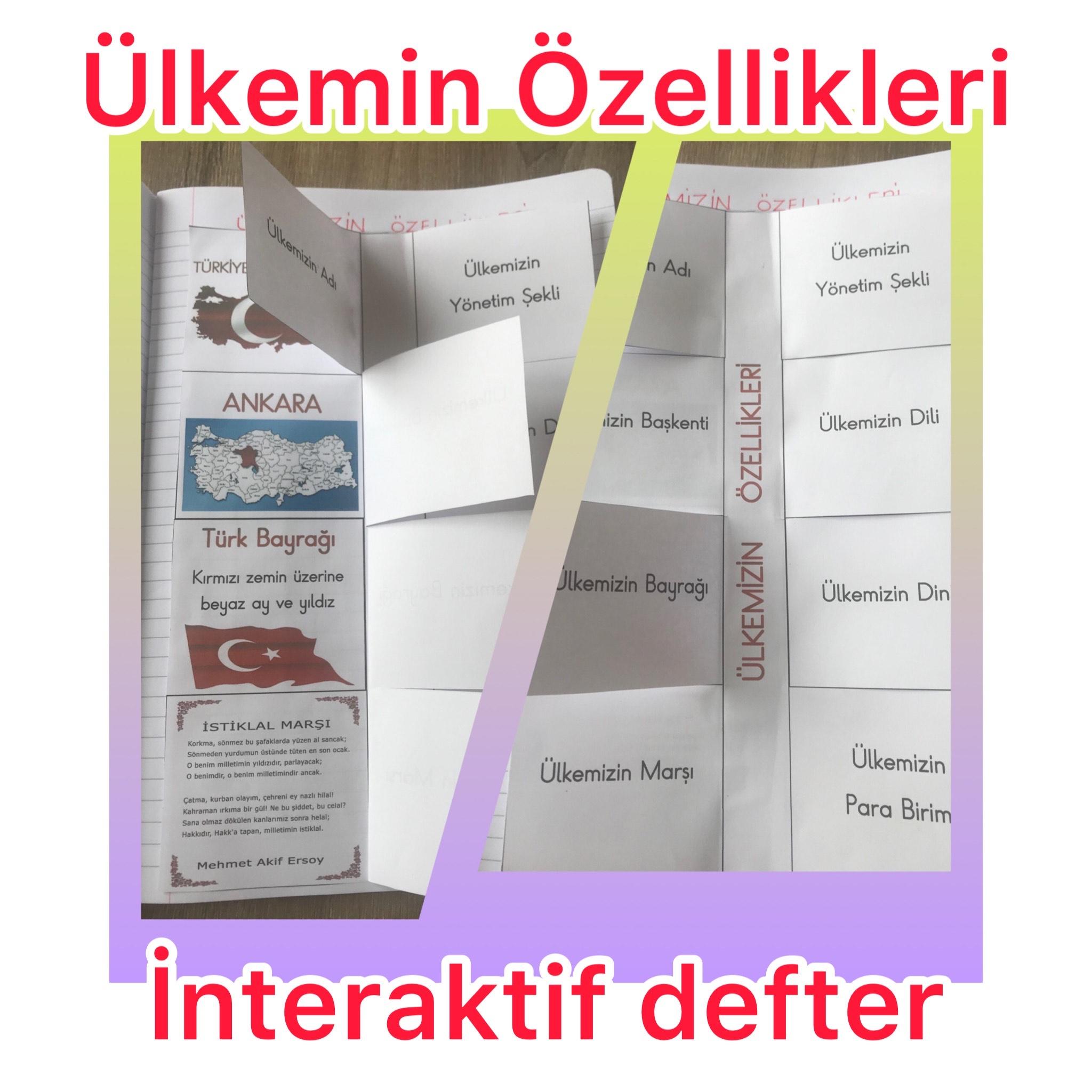 ÜLKEM TÜRKİYE İNTERAKTİF DEFTER
