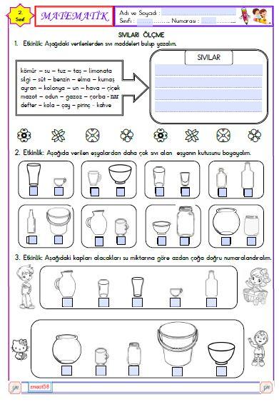 Matematik - Sıvıları Ölçme 1 (Etkileşimli)