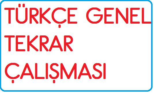 3.SINIF TÜRKÇE GENEL DEĞERLENDİRME ( 2.SINIF KONULARI TEKRARI İÇİN)