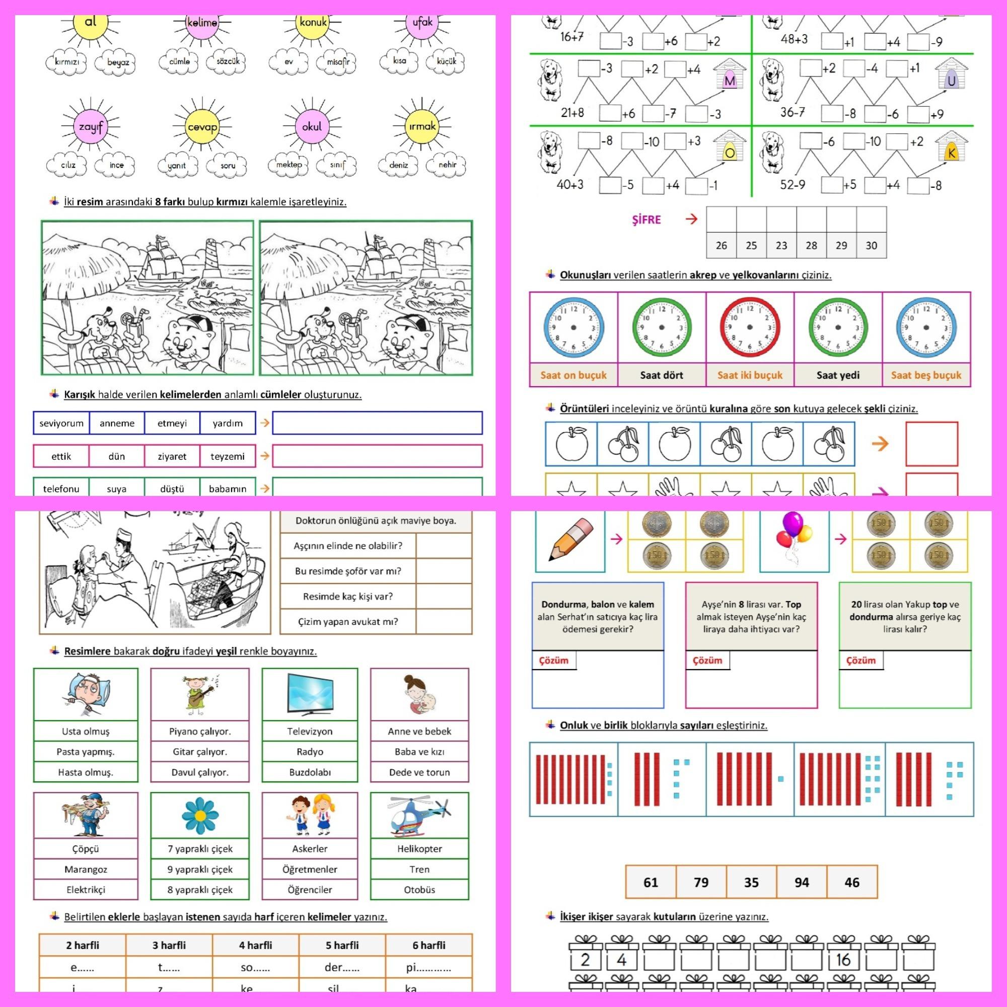 1. Sınıf Karışık Eğlenceli Çalışmalar - 16