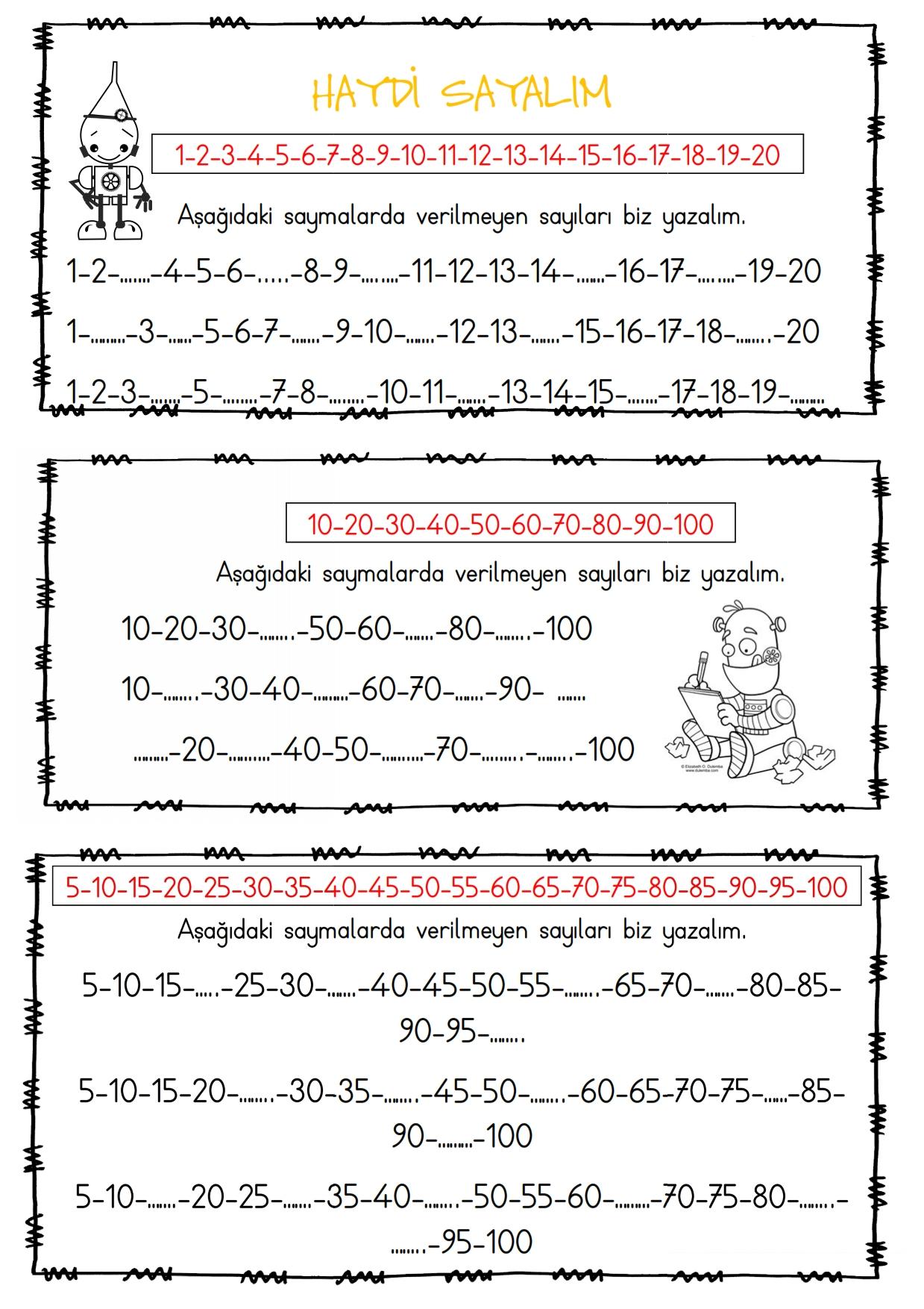 1.Sınıf Ritmik Saymalar - 2