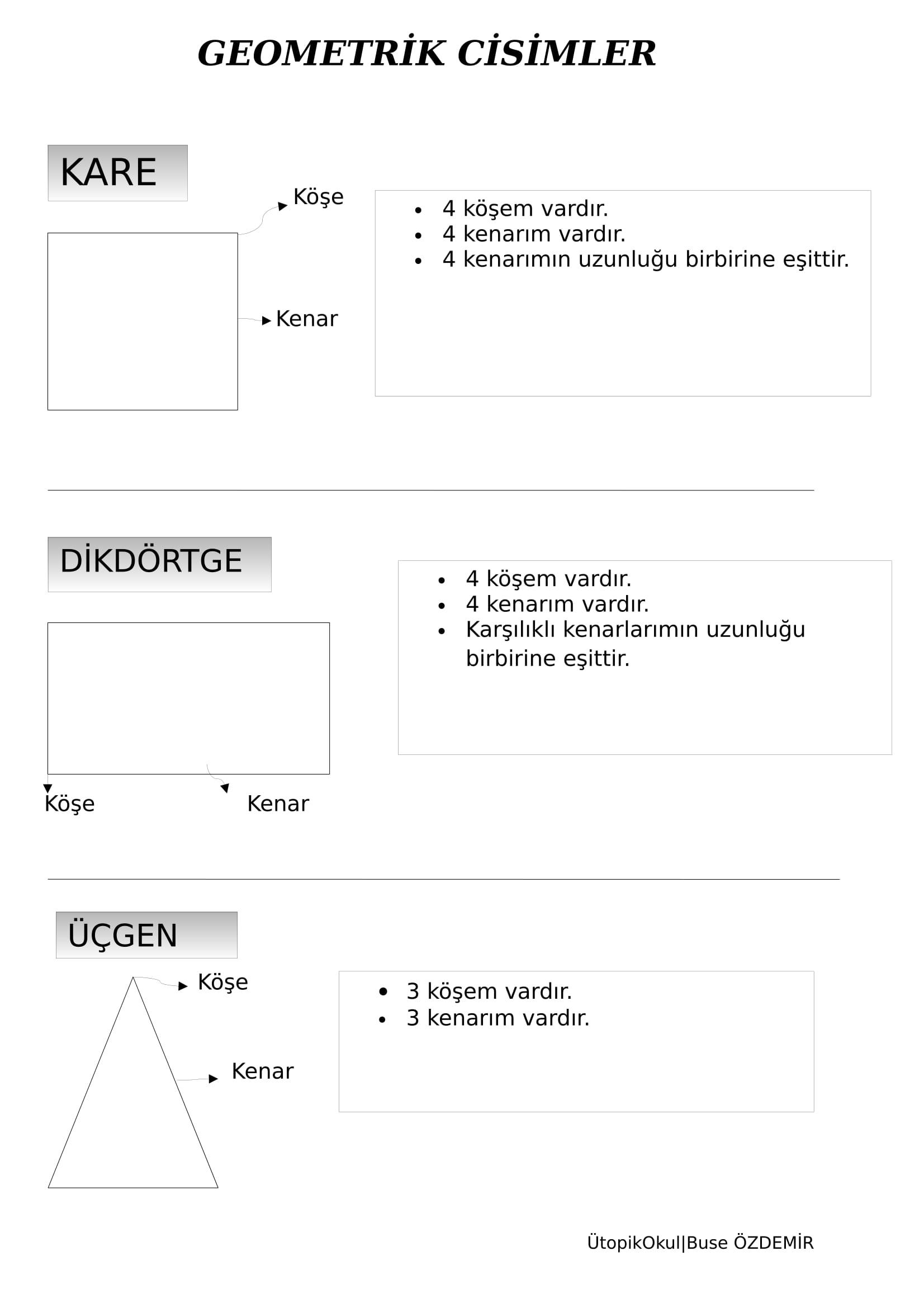 geometrik şekiller