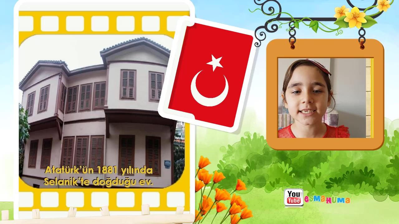 1.Sınıflar İçin Atatürk'ün Hayatı
