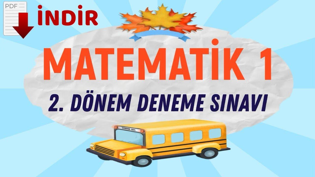 1. SINIF MATEMATİK 2. DÖNEM DENEME SINAVI PDF
