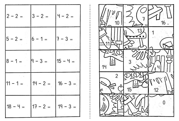 Basit Çıkarma Puzzle