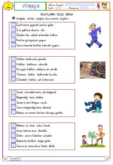 16. Hafta Tüm Dersler Etkinlikleri ( Etkileşimli )