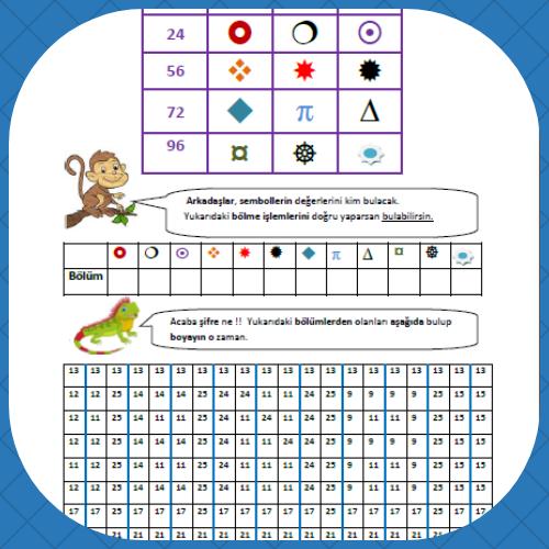 3. Sınıf matematik Bölme işlemi ve Bulmaca