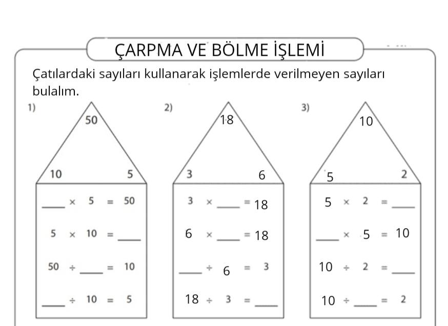 BÖLME VE ÇARPMA İŞLEMİ-3
