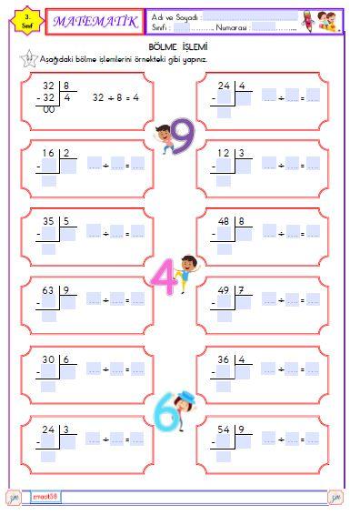 Matematik - Bölme  İşlemi 3 (Etkileşimli)