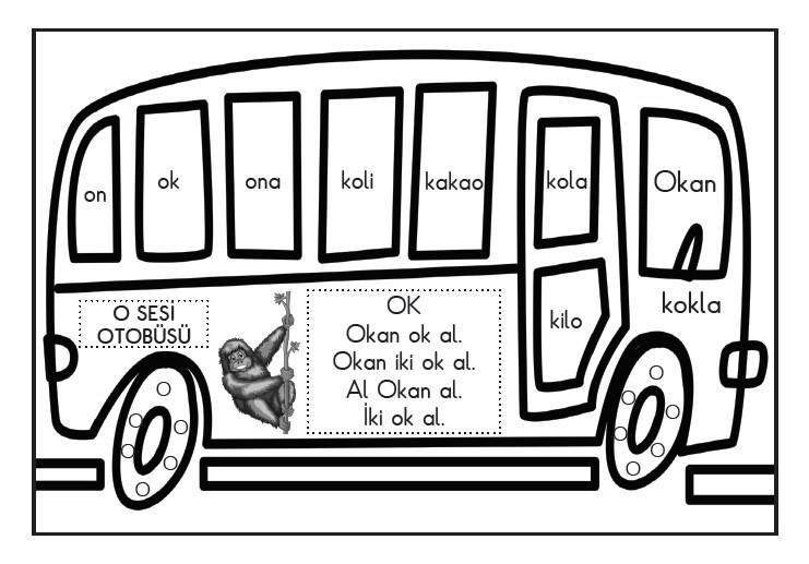 O sesi otobüsü boyama sayfası