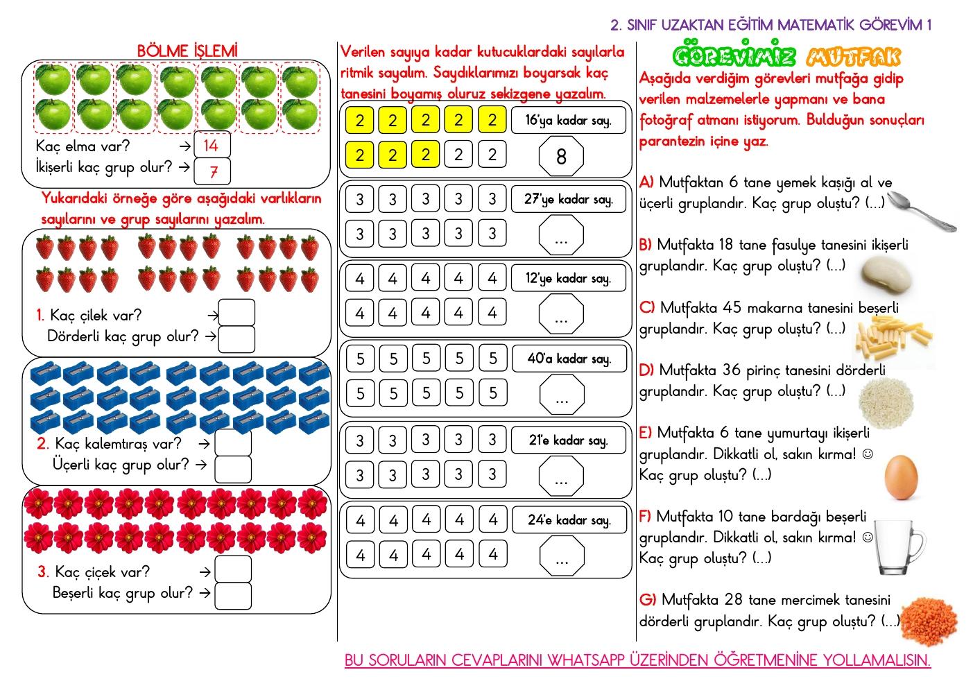 Uzaktan Eğitim Matematik Görevi 1