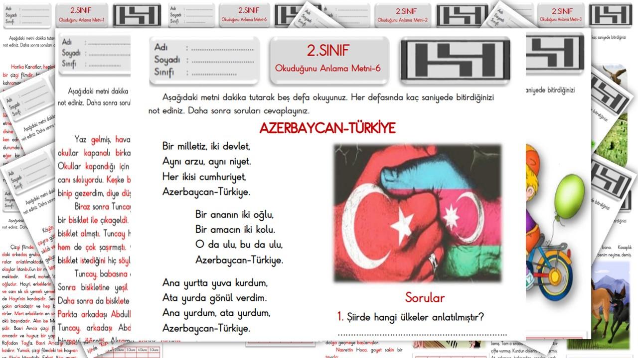 AZERBAYCAN-TÜRKİYE (2.Sınıf Okuduğunu Anlama Metni-6)