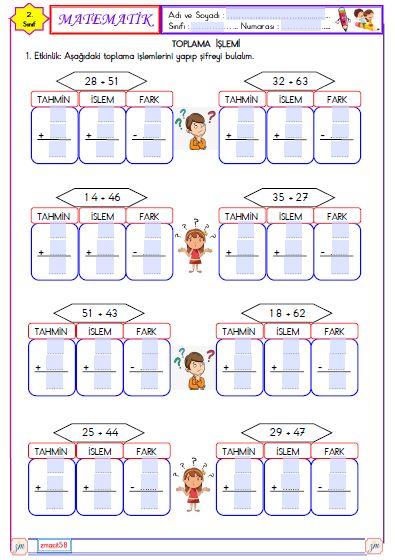 Matematik - Toplama İşlemi Sonucu Tahmin Etme 1 (Etkileşimli)