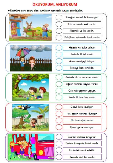 OKU İŞARETLE ETKİNLİĞİM - 8 SAYFA