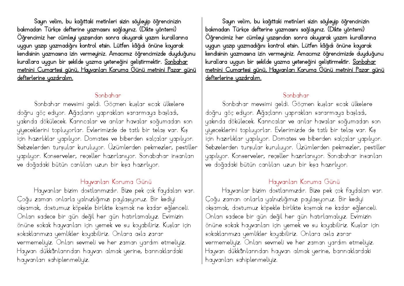 Türkçe Dikte Çalışması 1