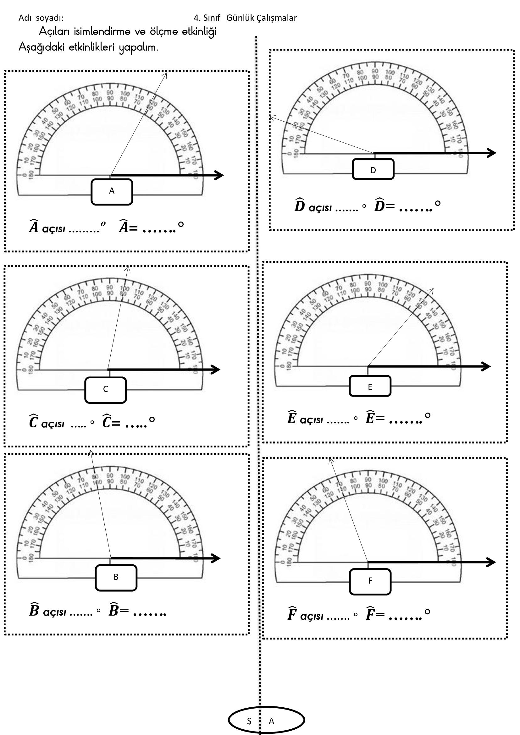 matematik açı ölçme 2