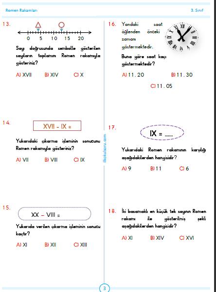 ROMEN RAKAMLARI TESTİ