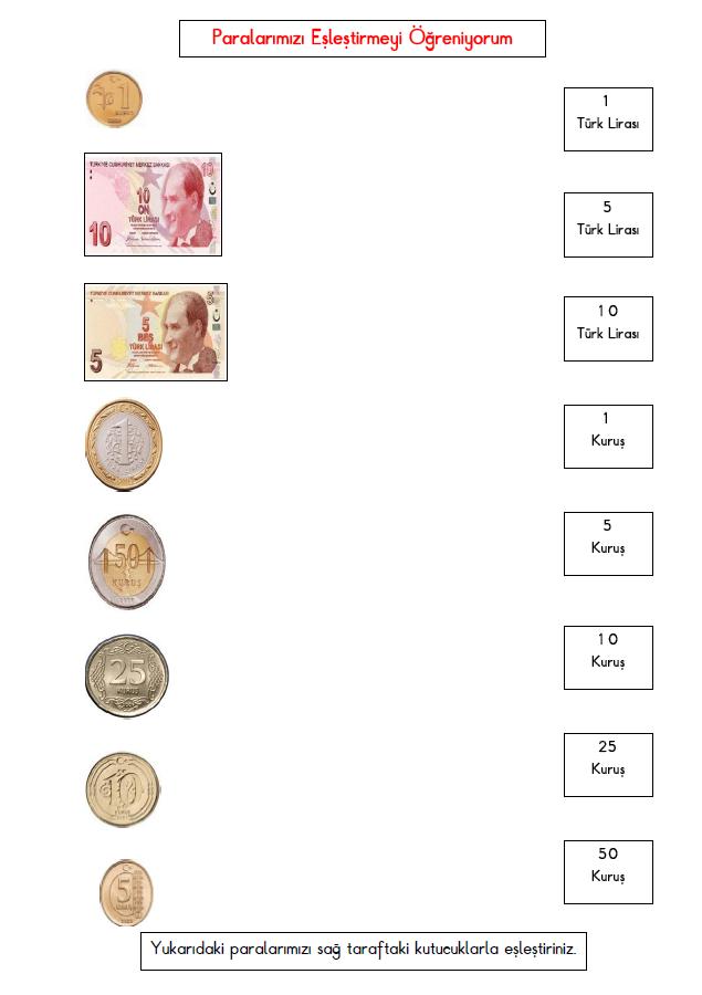 paralar eşleştirme