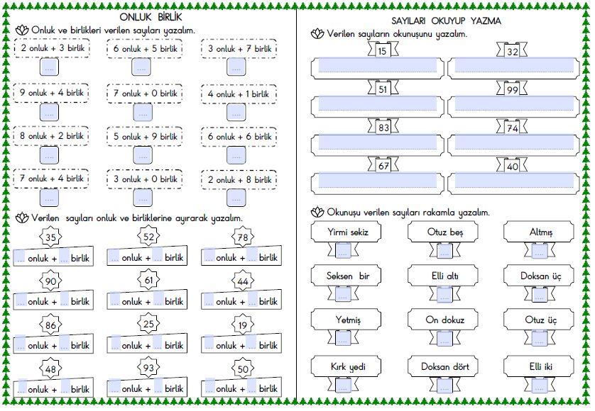 Matematik  Kasım  Ara Tatil Ödevi ( Etkileşimli )