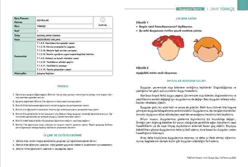 Türkçe Telafi Eğitim Kitabı(2.Sınıfa Geçenler İçin)