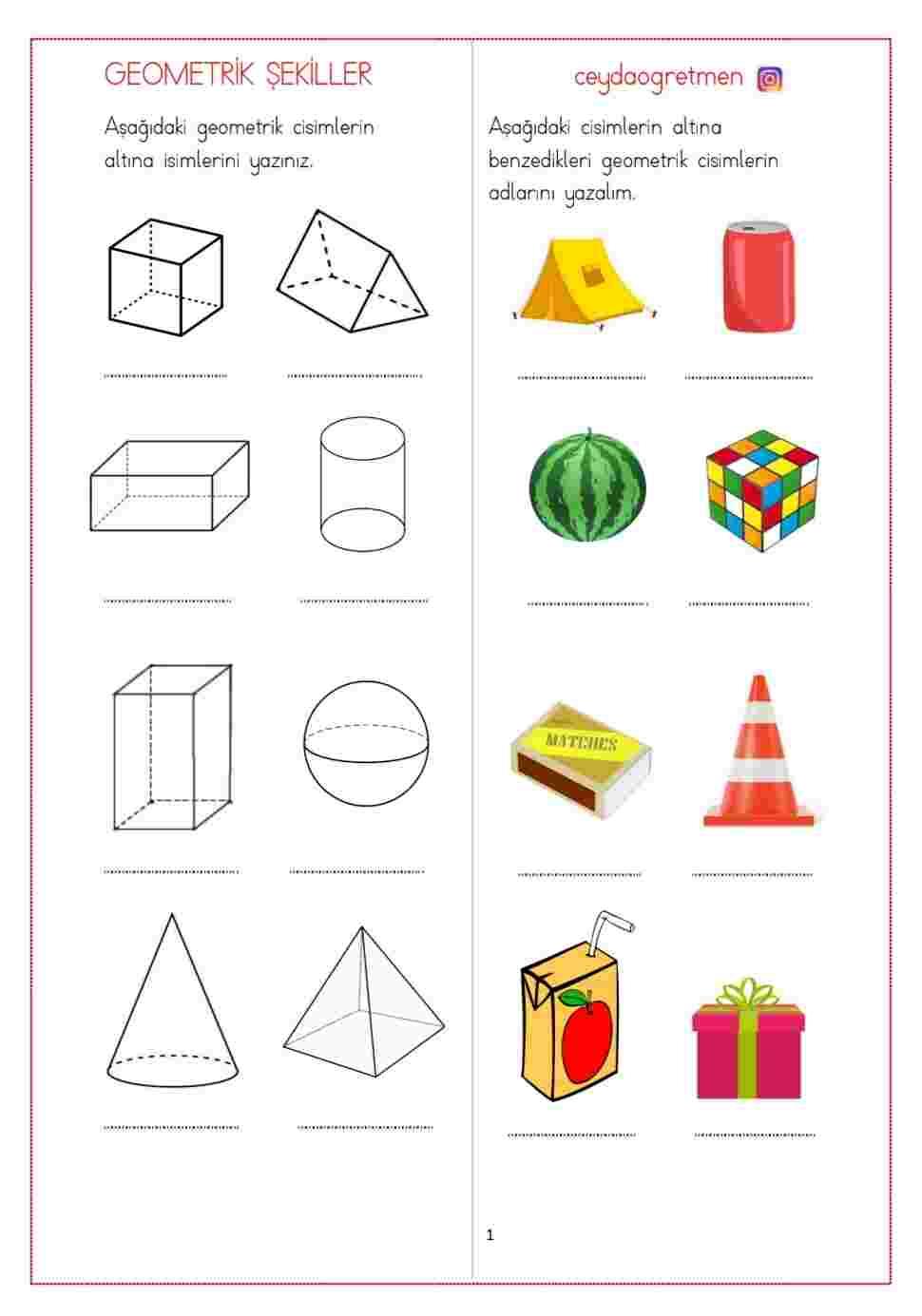 3.sınıf Geometrik Şekiller