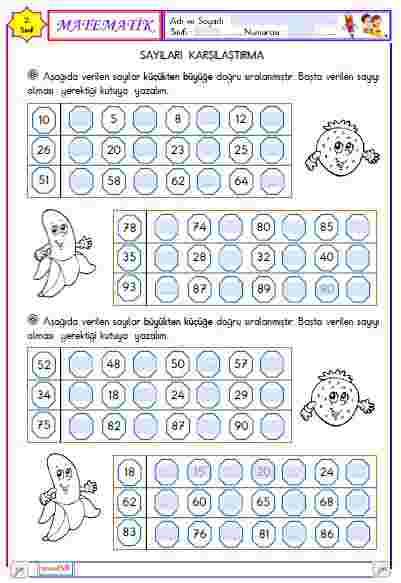 Matematik - Sayıları Karşılaştırma 4 (Etkileşimli)