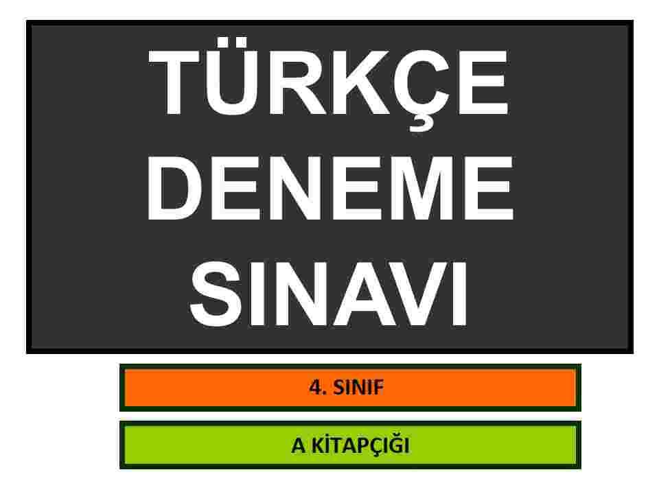 TÜRKÇE_DENEME SINAVI_40 Soruluk