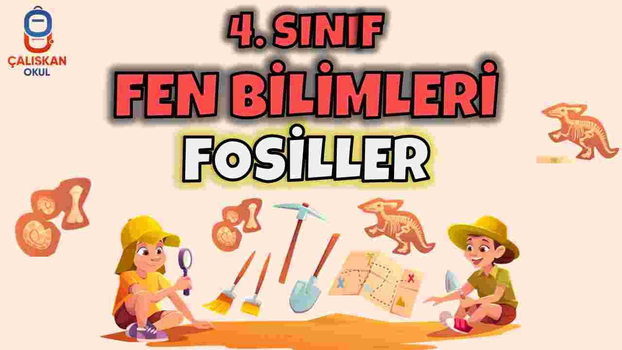4.SINIF FEN BİLİMLERİ - FOSİLLER KONU ANLATIMI SUNUMU