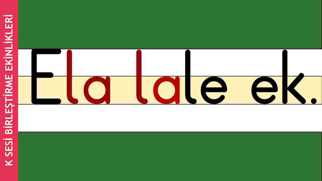 1. Sınıf E-L-A-K Sesi Birleştirme Etkinlik Video