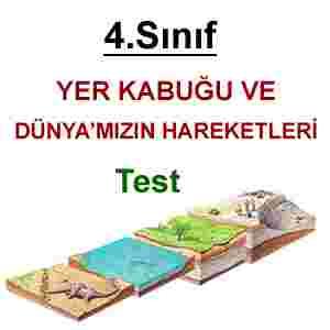 4. Sınıf Fen Bilimleri 1. Ünite Genel Tekrar Testi-3