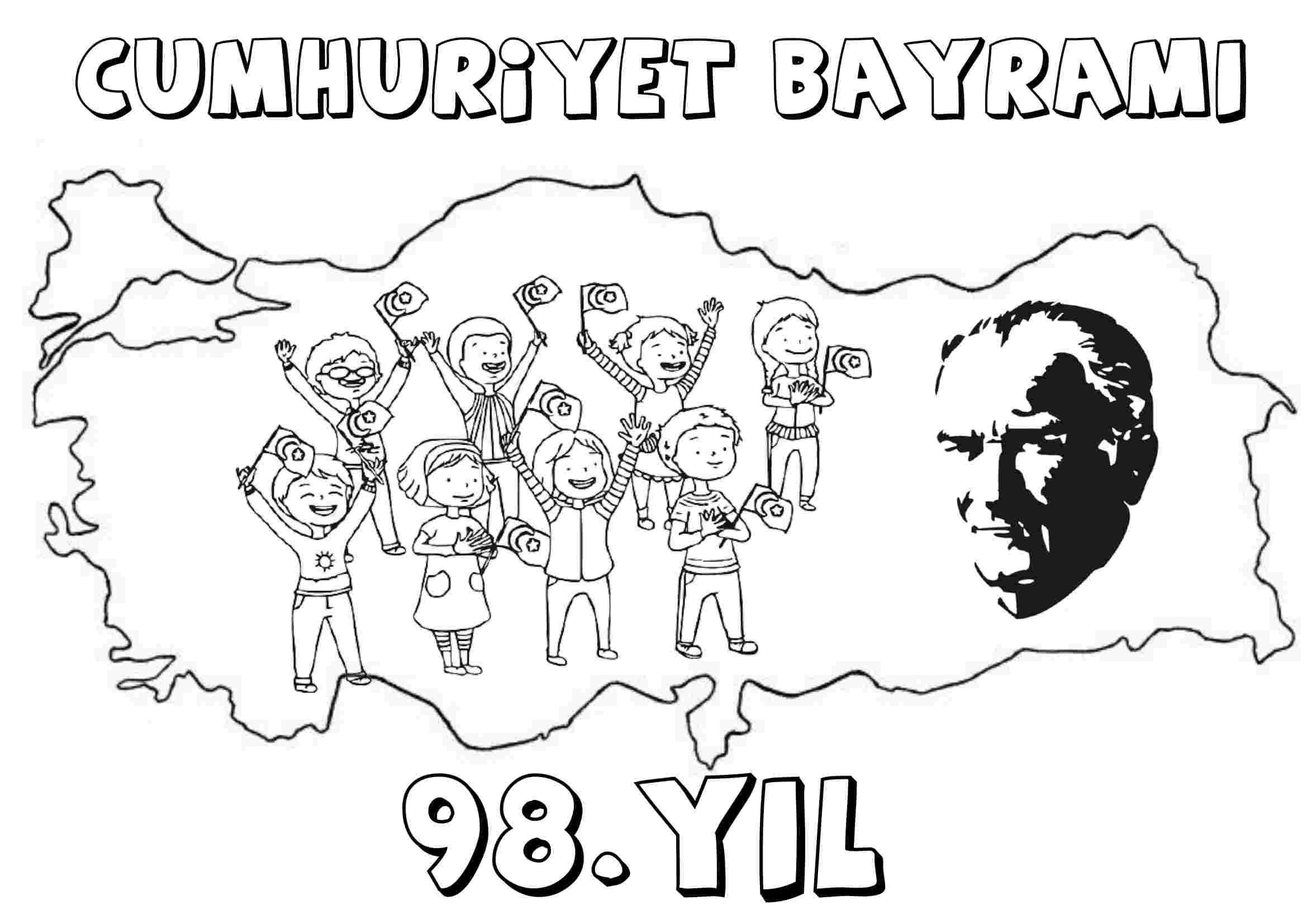 Cumhuriyet Bayramı (98.Yıl Boyama Etkinliği)