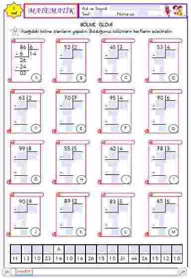 Matematik - Bölme  İşlemi 6 (Etkileşimli)
