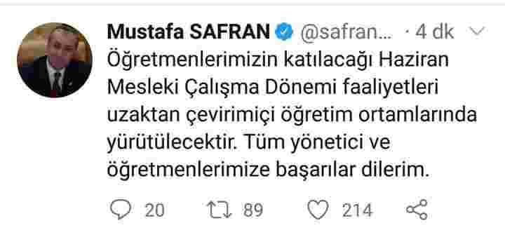 2019-2020 HAZİRAN  MESLEKİ  SEMİNER ÇALIŞMALARI ONLİNE - UZAKTAN ...