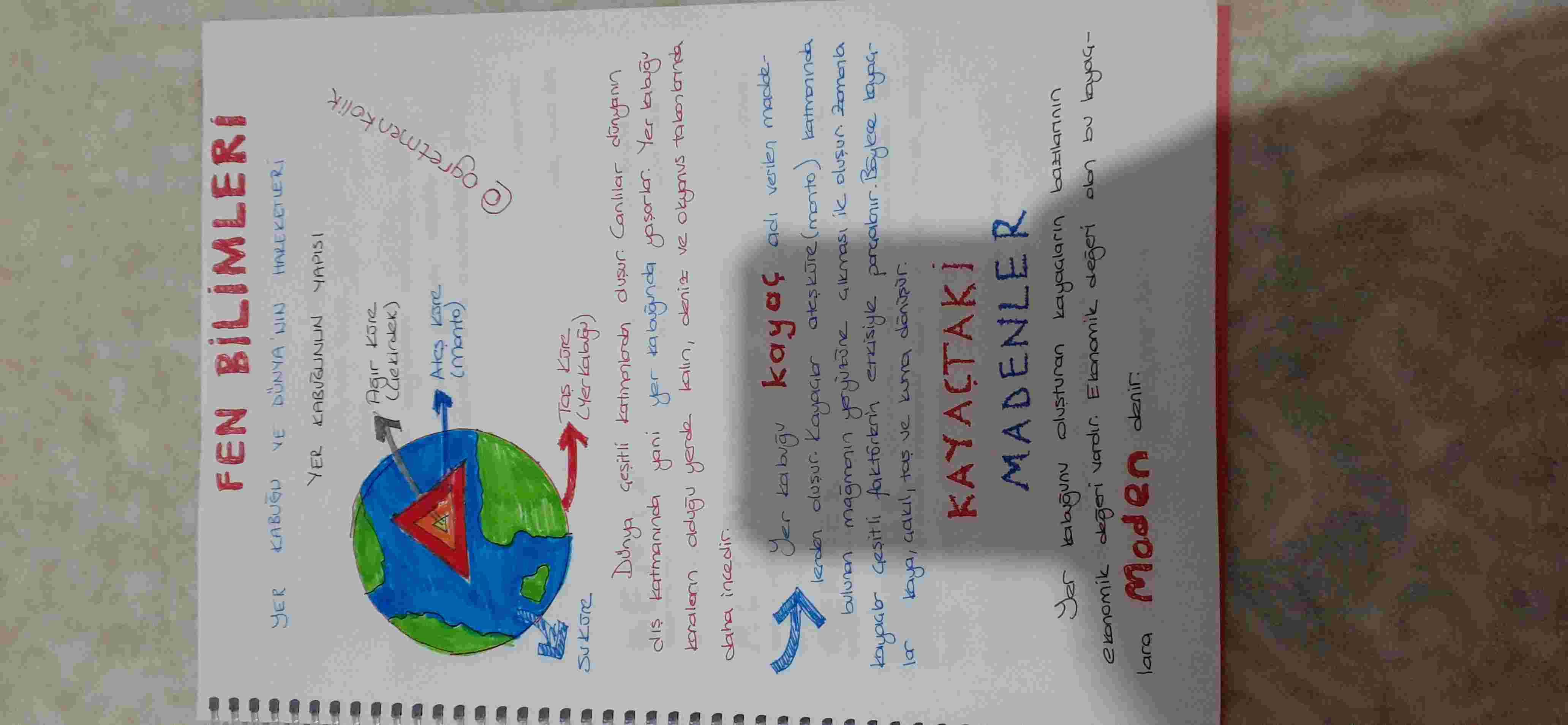 Fen Bilimleri Dersi-Yer Kabuğu Ders Notları