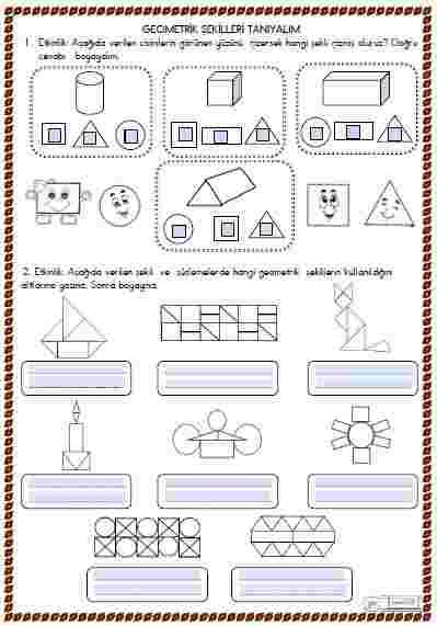 Matematik - Geometrik Şekiller 4 (Etkileşimli)