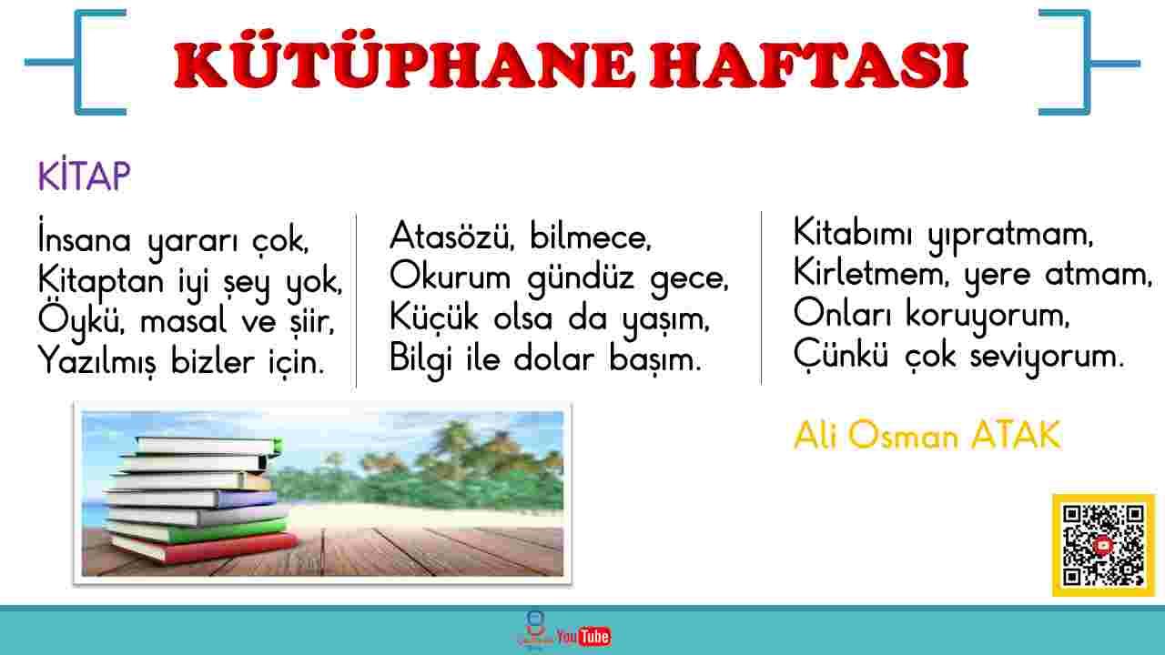 KÜTÜPHANE HAFTASI ŞİİRLERİ - PDF
