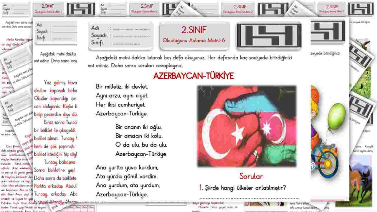 AZERBAYCAN-TÜRKİYE(2.Sınıf Okuduğunu Anlama Metni-6)