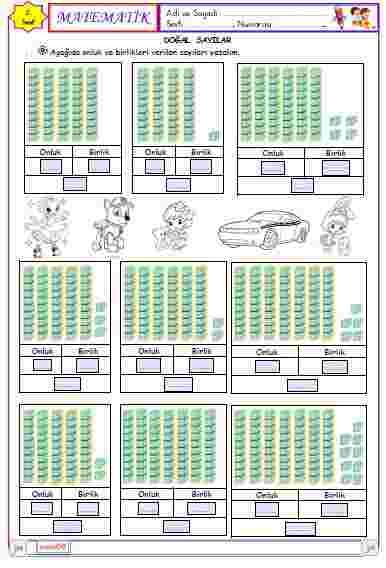 2.Sınıf Matematik - Onluk ve Birlik Kavramı 2 ( Etkileşimli)