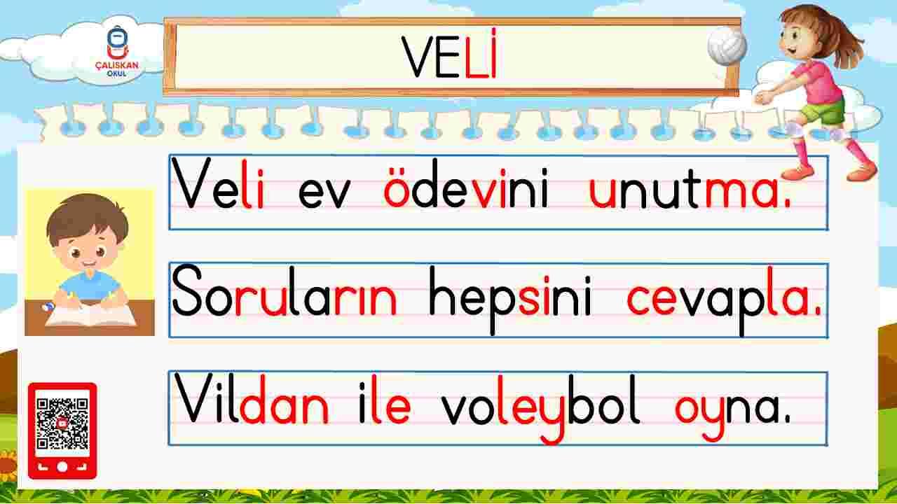 V SESİ METİN OKUMA ÇALIŞMALARI  - PDF